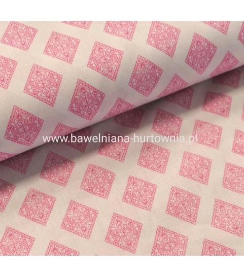 Ornamenty w rombach różowe 0,1 mb