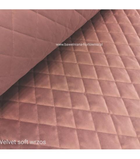 Velvet pikowany w romby 0,1 mb - soft wrzos
