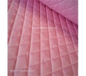 Velvet pikowany w romby 0,1 mb - soft landrynka