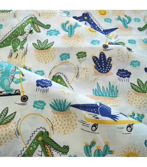 Krokodyl na placu zabaw niebieski 0,1 mb