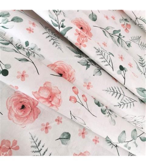 Róża brzoskwiniowa na bieli 0,1 mb