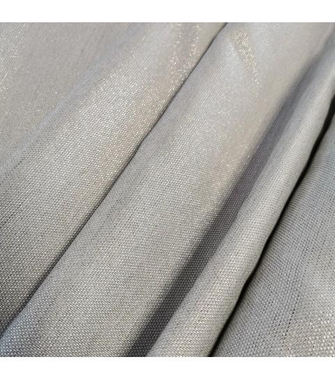 Tkanina poliestrowa - srebro szerokość 175 cm 0,1mb