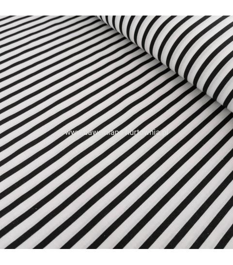 Paski 0,6 cm czarno białe 0,1 mb