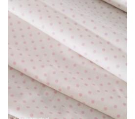 Kropka 0,4 cm różowa na bieli 0,1 mb