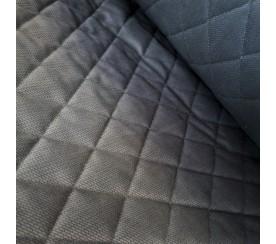 Velvet pikowany w romby 0,1 mb - ciemno szary