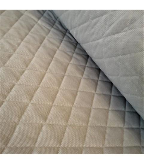 Velvet pikowany w romby 0,1 mb - jasno szary