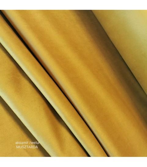Tkanina poliestrowa welur/alsamit 0,1mb - musztarda