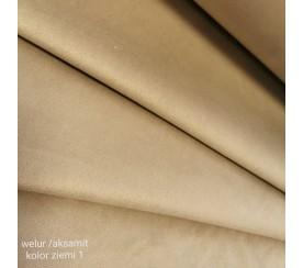 Tkanina poliestrowa welur/alsamit 0,1mb - kolor ziemi 1