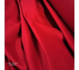 Tkanina poliestrowa welur/alsamit 0,1mb - czerwień