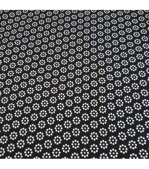 Stokrotka z kropek na czarnym tle 0,1 mb