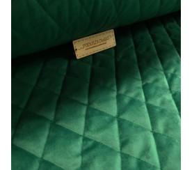 Velvet pikowany w romby 0,1 mb - soft zielony