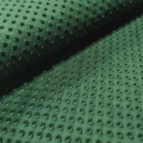 Minky zieleń butelkowa 0,1 mb