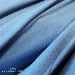 Dzianina pętelkowa gładka 0,1 mb - niebieski mavi