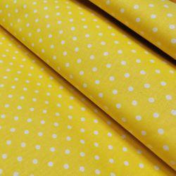 Kropka 0,4 cm biała na żółtym 0,1 mb