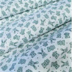 Pluszowy zajączek zieleń 0,1 mb