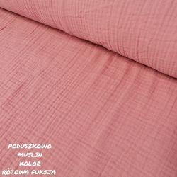 Muślin double gauze - różowa fuksja 0,1mb