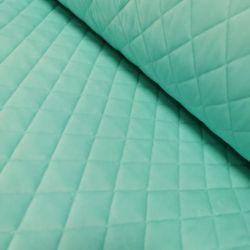 Velvet pikowany w romby 0,1 mb - soft mięta