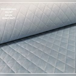 Velvet pikowany w romby 0,1 mb - soft jeans