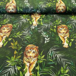 Tygrys w dżungli na ciemnym tle 0,1 mb