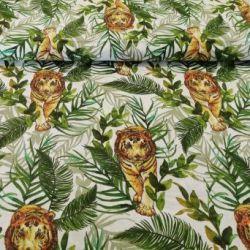 Tygrys w dżungli na jasnym tle 0,1 mb