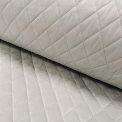 Velvet pikowany w romby 0,1 mb - soft srebrny