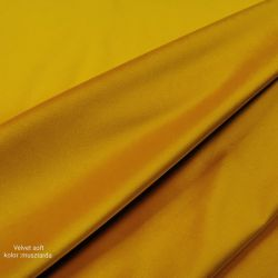 Velvet gładki 0,1 mb - musztarda soft