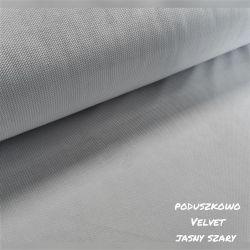 Velvet gładki 0,1 mb - jasno szary