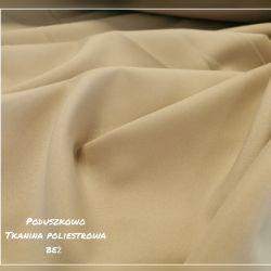 Tkanina poliestrowa - beż 0,1mb