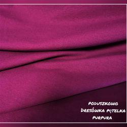 Dzianina pętelkowa gładka 0,1 mb - purpura