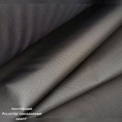 Tkanina poliestrowa wodoodporna 0,1 mb - grafit