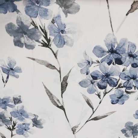 Bawełna - Ulotne kwiatuszki granat 0,1 mb