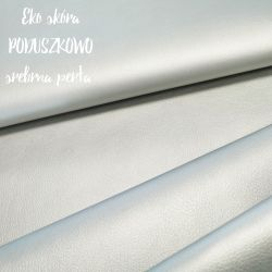 Ekoskóra 0,1 mb - srebrna perła