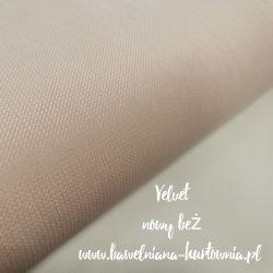 Velvet gładki 0,1 mb - nowy beż