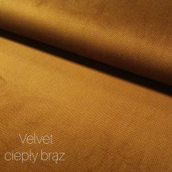 Velvet gładki 0,1 mb - ciepły brąz