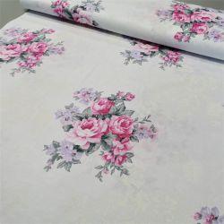 Bawełna - Bukiet kwiatów róż 0,1 mb
