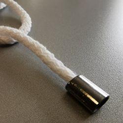 Końcówki na sznurek walec 12mm różne kolory - 1 mb
