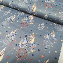 Tkanina bawełniana - Łapacz snów na dżinsowym 0,1 mb