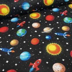 Bawełna - kosmos na czarnym tle 0,1 mb