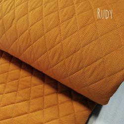 Velvet pikowany w romby 0,1 mb - rudy