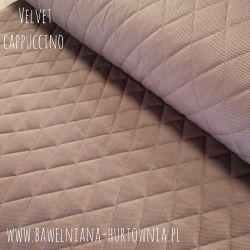 Velvet pikowany w romby 0,1 mb - cappuccino