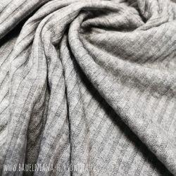 Dzianina sweterkowa (prążek) 0,1 mb - szary melanż