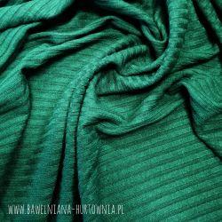 Dzianina sweterkowa (prążek) 0,1 mb - butelkowa zieleń
