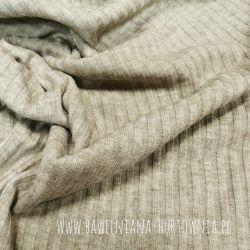 Dzianina sweterkowa (prążek) 0,1 mb - beż